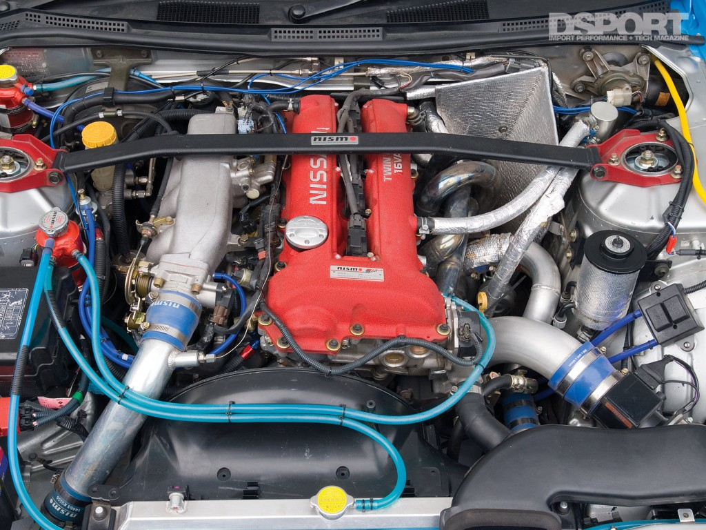 SR20 engine of the Kazama S15 D1 drift car