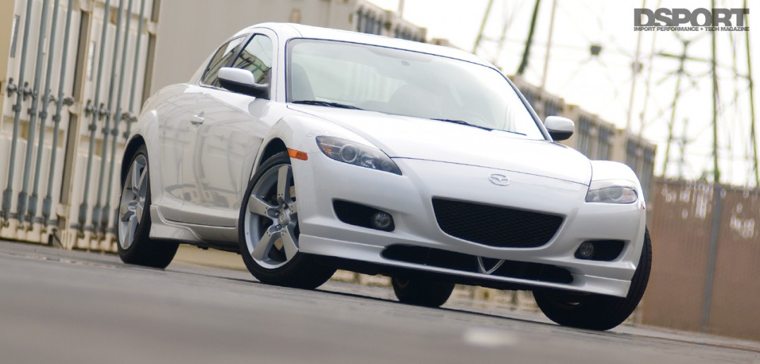 The Mazda RX-8 ready for it's test and tune