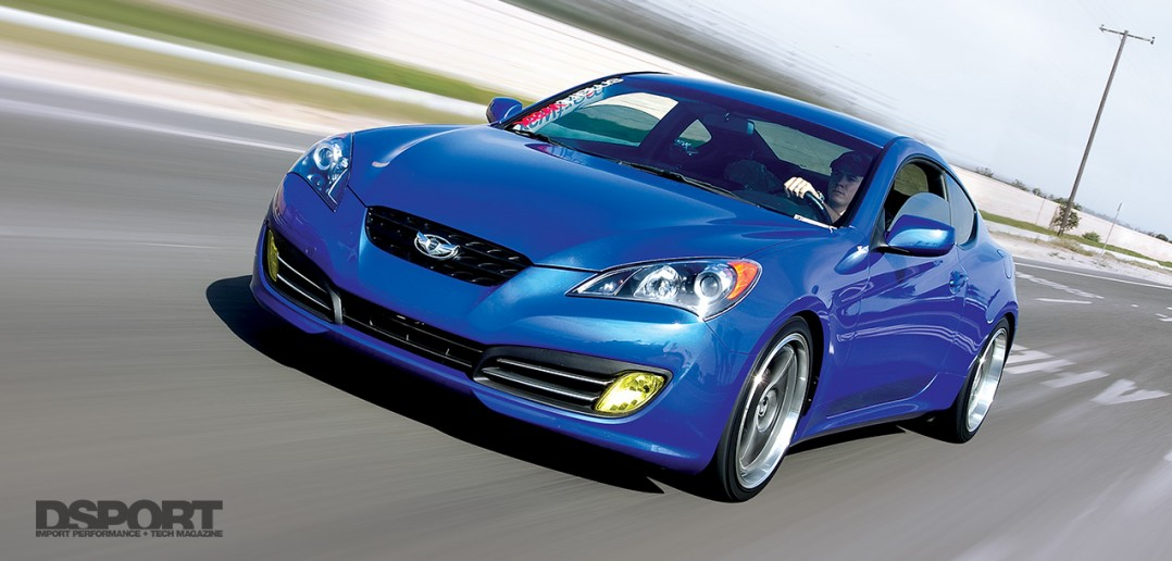 The Hyundai Genesis 3.8 on the road after it's test and tune