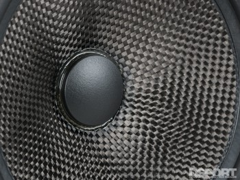 Carbon fiber being use for the dry cone on the OEM Audio+ sound system for FR-S