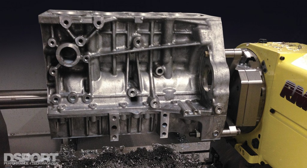 CNC work done on the engine block