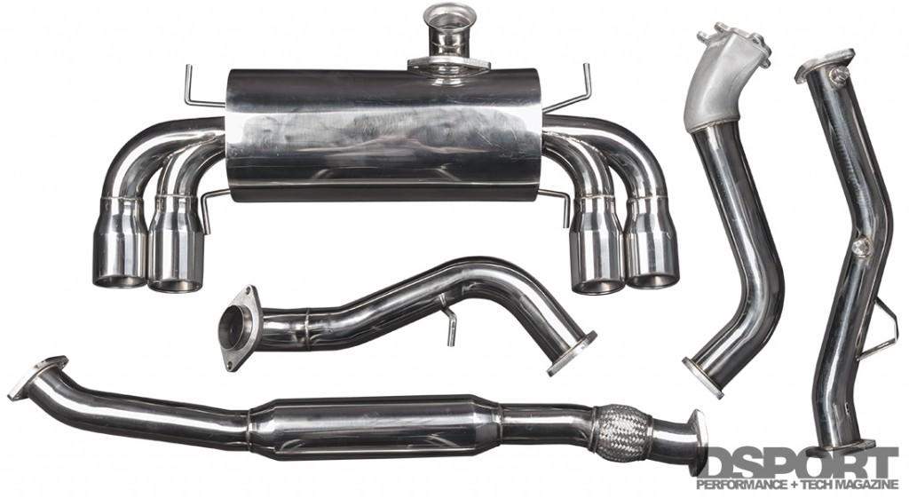 TurboXS exhaust kit for Subaru STi E85 Test