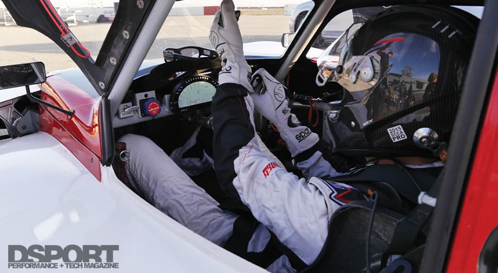Cameron Parsons getting ready to drive the NP01