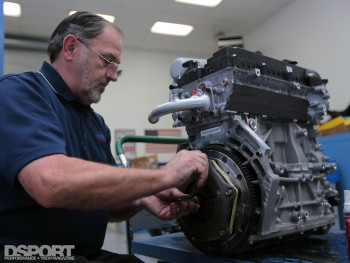 Engine being built for the NP01
