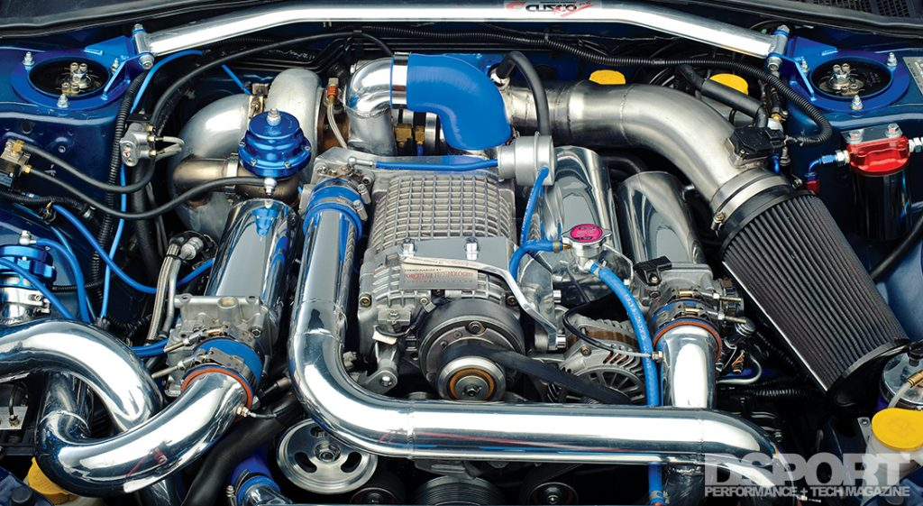 Twin charged Suabru WRX STI turbocharged and supercharged