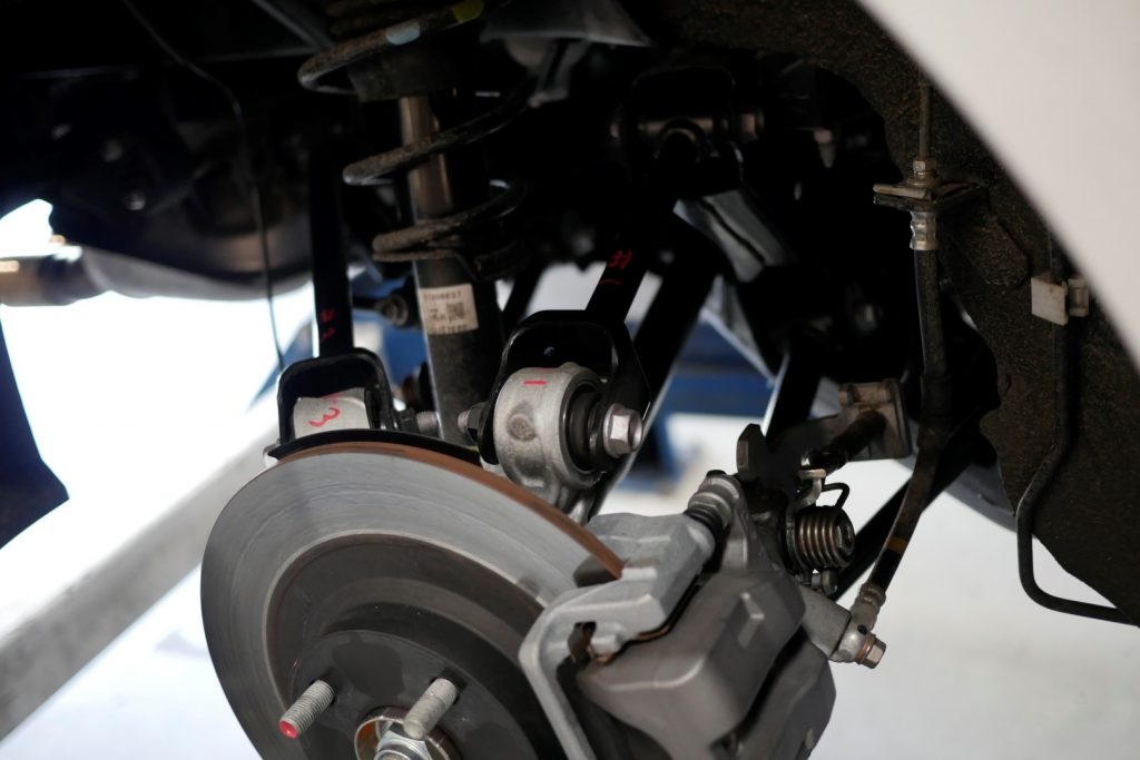 Mark suspension components to keep track of where they belong