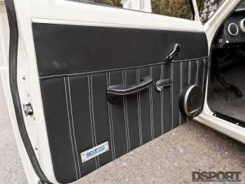 Door panel for Datsun 510 with a SR20 swap