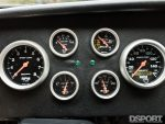 Gauges in the Datsun 510 with a SR20 swap