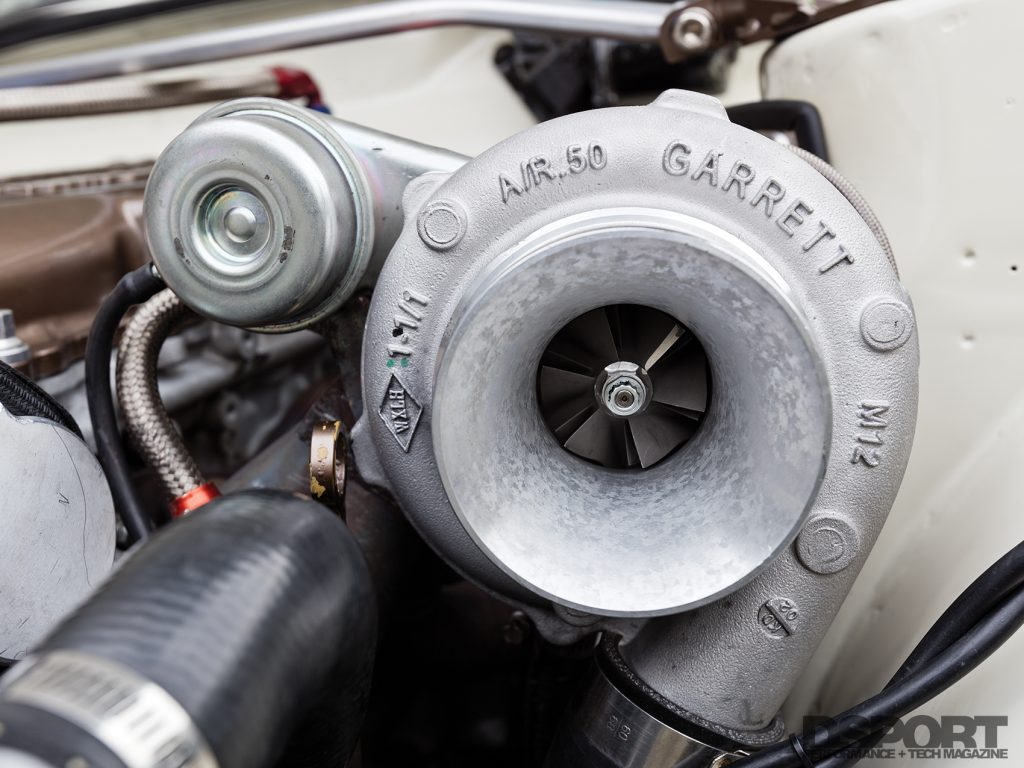 Garrett turbocharger for the Datsun 510 with a SR20 swap
