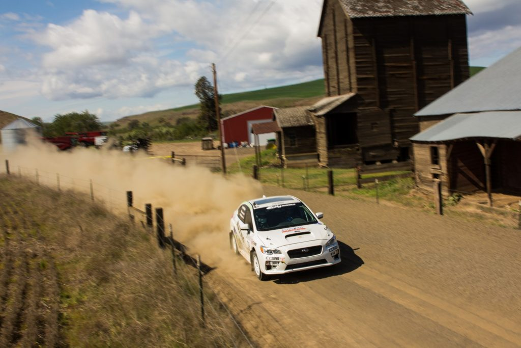 Rally Subaru WRX at Oregon Trail - Photo by Trevor Wert