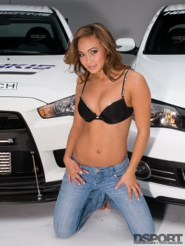 Michelle Waterson modeling for DSPORT