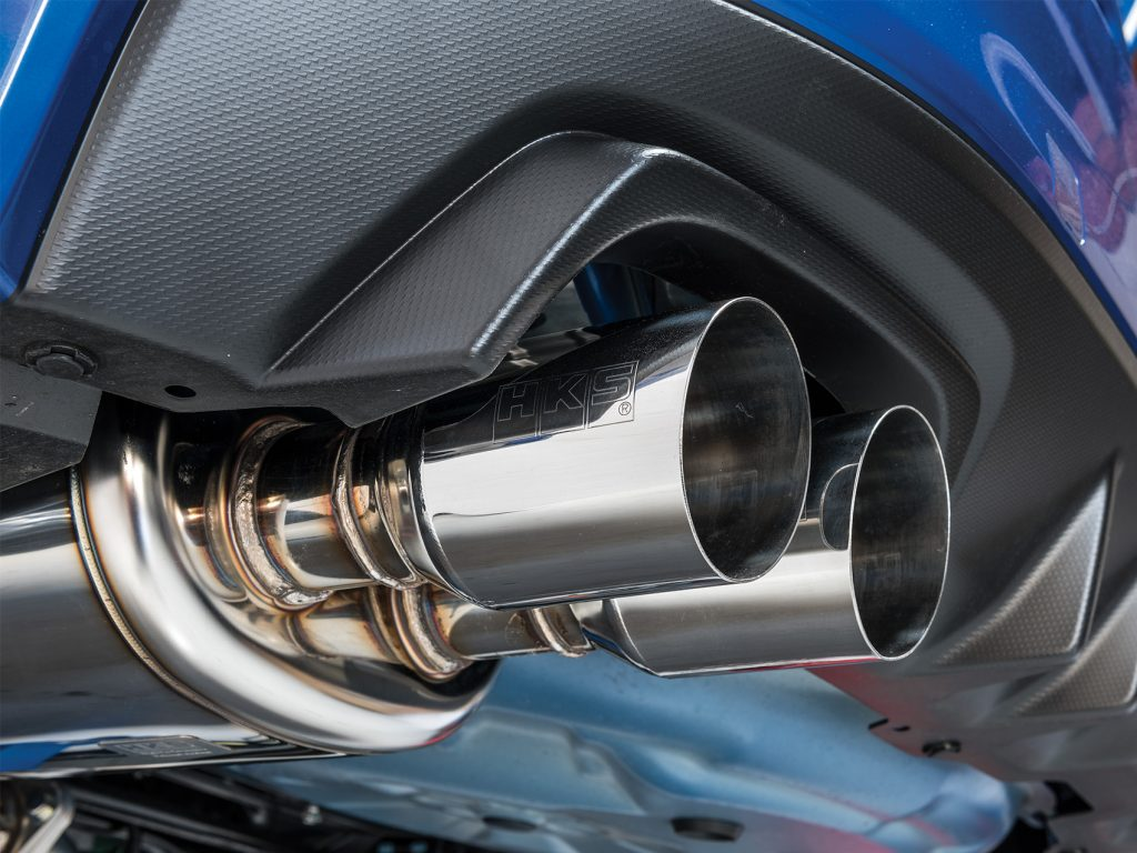 HKS STI Exhaust Installed