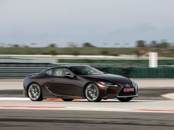 LC500 on track