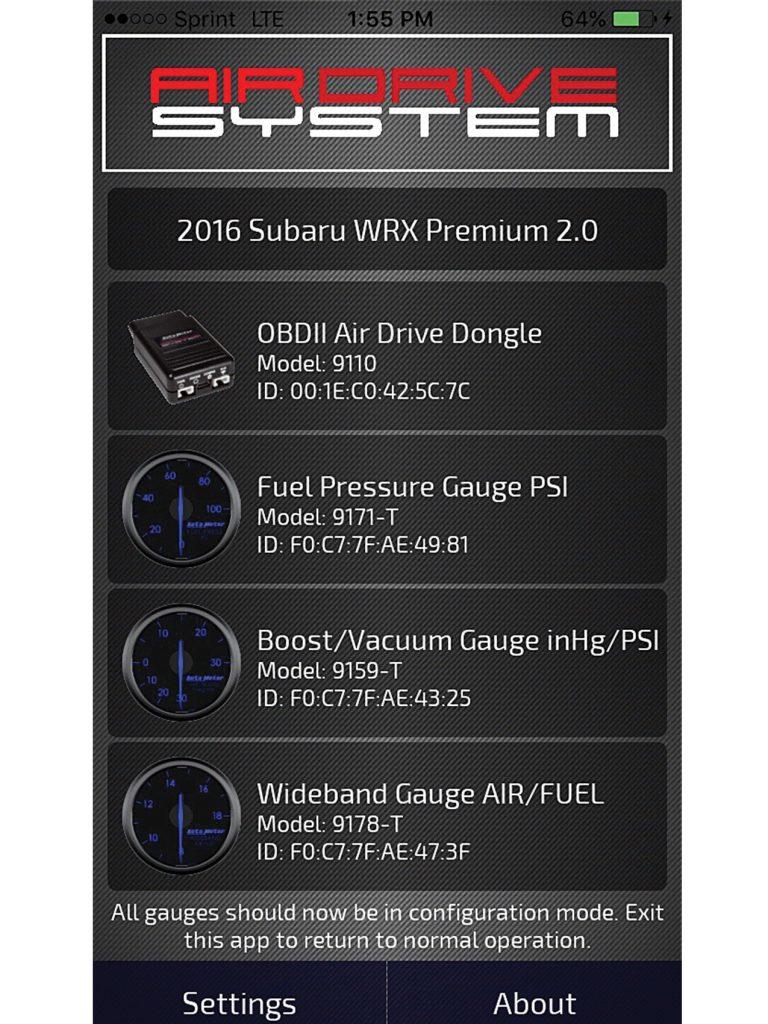 Autometer Gauge App
