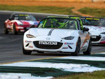 Mazda MX-5 Cup Car Miatas on track