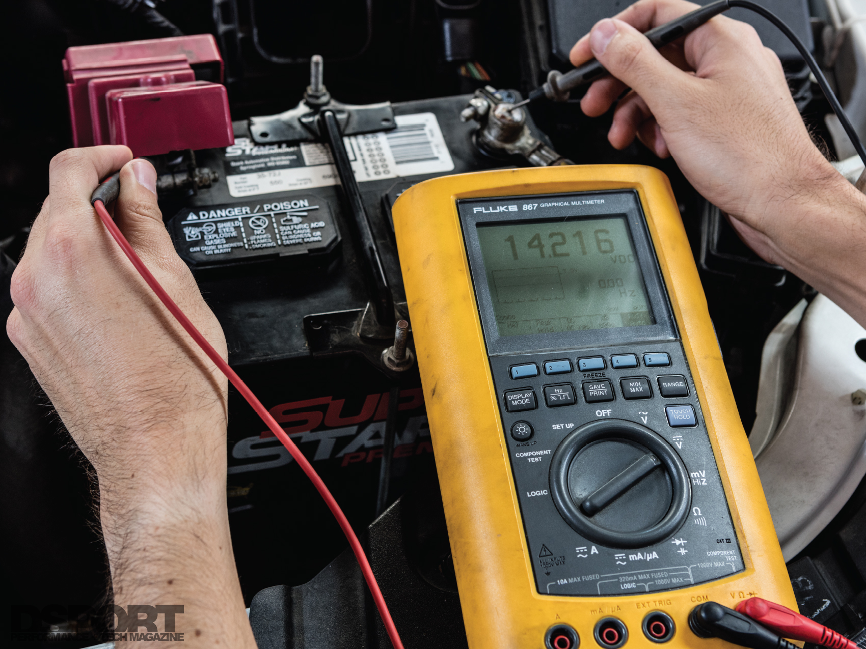How To Avoid And Fix Automotive Electrical Issues Dsport Magazine House Wiring Voltage Formula In Addition Checking Current Continuity Resistance Some Digital Multimeters Have The Ability Test Diodes Measure Temperature