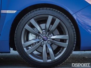 Wheel and tire of the 2016 Subaru WRX