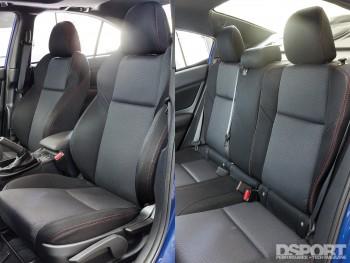 Interior of the 2016 Subaru WRX