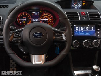 Dash / Steering wheel of the 2016 Subaru WRX