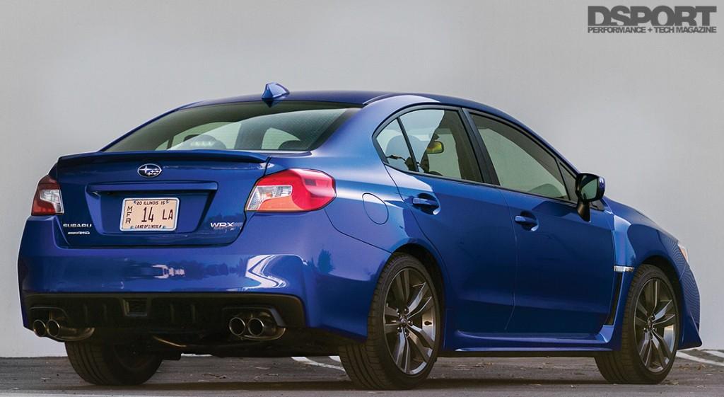 The back of the 2016 Subaru WRX