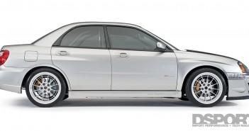 DSPORT Magazine feature on a home-brewed 9-second Subaru STi drag car