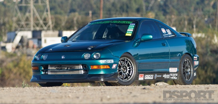 DSPORT Magazine feature editorial on the English Racing Acura Integra
